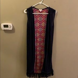 Charming Charlie's Sleeveless Long Cardigan
